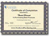 Purchasing Certification 14PBP Certificate