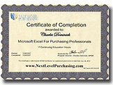 Purchasing Certification MEFPP Certificate