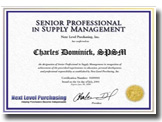 Purchasing Certification Certificate